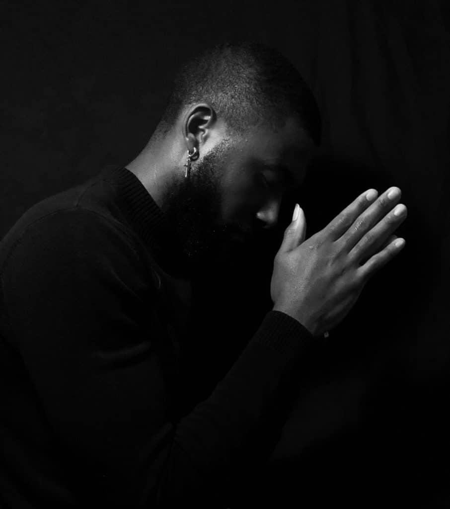 A man praying.